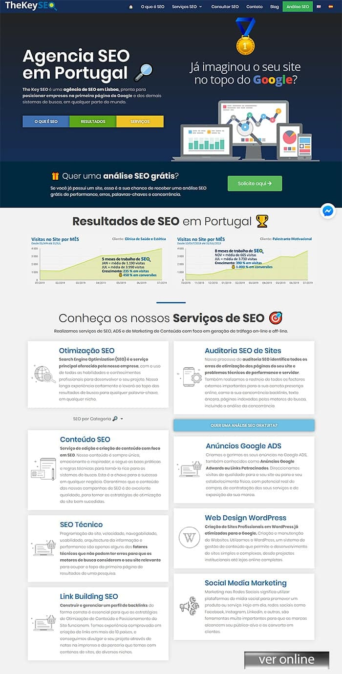 Web Design Site: Empresa SEO Portugal